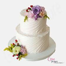 2 Tier Vanilla Wedding Cake Gifting Pleasure