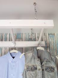 diy laundry drying rack made from ladder