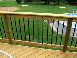 outstanding wood deck railing awesome kits your house design outdoor diy ideas wooden furniture
