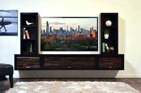 contemporary floating entertainment center modern floating shelves dark wooden wall mounted modern floating stand featuring side