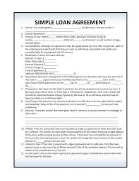 sample title auto loangreement template simple form contract free car