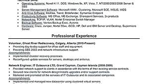 Network Engineer Resume Objective It Network Engineer Resumes Here ...