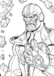 Avengers Infinity War Thanos Drawing And Coloring Marvel In Pages
