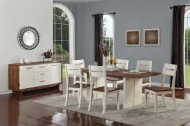 anne pine satin white dining set with 6 dining chairs