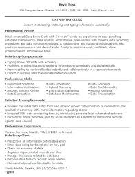 Resume Data Entry. Resume Format For Data Entry Operator Fresher ...