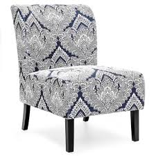 blue and white accent chair. Modern Contemporary Upholstered Accent Chair - Blue/White Blue And White