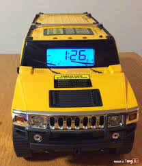hummer h2 stereo cd player with am fm alarm clock radio hcr1350
