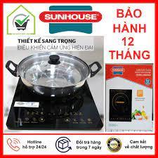 BẢO HÀNH 12 THÁNG] Bếp từ cảm ứng cao cấp SUNHOUSE SHD6800 nấu cực nhanh - Bếp  điện kết hợp