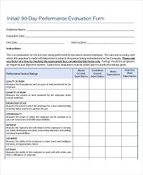 Restaurant Employee Performance Evaluation Form Free Employee Evaluation Form Restaurant Employee Evaluation