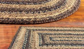 braided rug black brown and tan primitive country by size handphone
