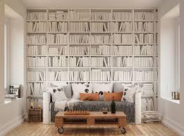 library bookshelf wall mural