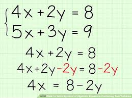 solving equations with one variable math image titled solve systems of algebraic equations containing two variables