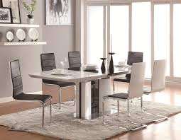 coaster broderick contemporary  piece white dining table set with