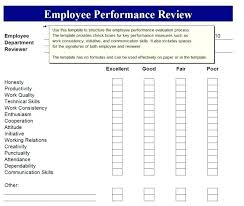 Performance Appraisal Sample Form Employee Performance Review Examples Appraisal Template