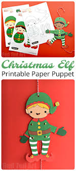 Easy Christmas Elf Paper Puppet With Templates Red Ted Art