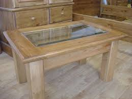display coffee table with glass inset