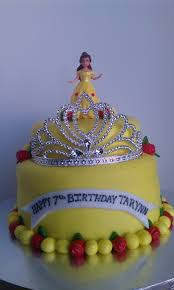 Belle Birthday Decorations Belle themed birthday cake 89