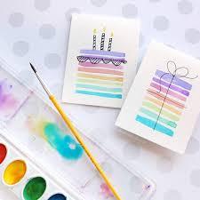 Easy Diy Birthday Cards Using Minimal Supplies Diy Parties Diy