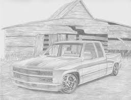 1994 Chevrolet 1500 Pickup Truck Art Print Drawing by Stephen Rooks