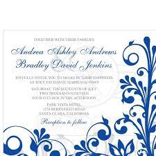 Royal Invitation Template Wedding Invitation Blue And Silver Invitations Templates