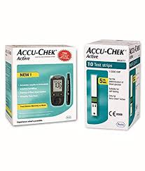Accu Chek Blood Glucose Chart Accu Chek Active Blood Glucose Meter Kit Vial Of 10 Strips Free Multicolor
