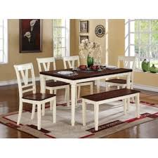 kitchen table sets with bench. 6 piece dining set kitchen table sets with bench