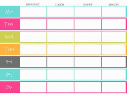 Menu Planning Template Printable Free Menu To Be Printed For The Home Meal Planning Meal Planner