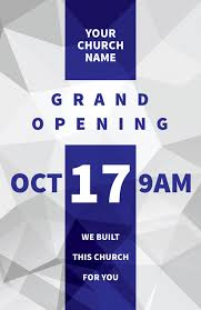 Grand Opening Postcards Grand Opening Geometric Postcard Church Postcards Outreach Marketing