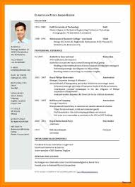 International Cv Format International Cv Template Download Sample
