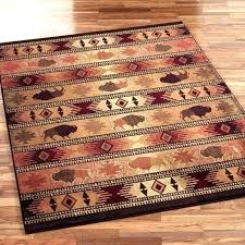 rustic cabin rug outdoor rugs lovely area wonderful lodge blue love fashion log rustic cabin rug