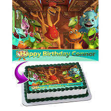 Dinosaur Train Edible Cake Topper Personalized Birthday 14 Sheet