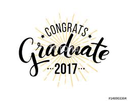 congratulations to graduate congratulations graduate 2017 vector isolated elements for
