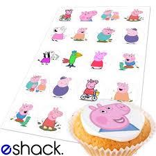 20x Peppa Pig Edible Cake Toppers Birthday Cupcake Topper By Eshack By Eshack