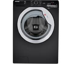 black washer and dryer. HOOVER Dynamic Next WDXOC 686ACB NFC 8 Kg Washer Dryer - Black And 0