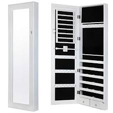 Image mirrored closet door Bedroom Homegear Modern Doorwall Mounted Mirrored Jewelry Cabinet Organizer Storage White Amazoncom Mirror Closet Door Amazoncom