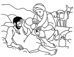 Small Picture Good Samaritan Aid Travellers Wound Coloring Page NetArt