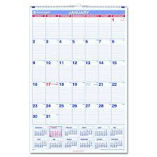 At A Glance Monthly Wall Calendar Mly 20x30 Each Model Pm4 28