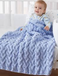 Bernat Baby Blanket Crochet Patterns New Free Knit Pattern Shadow Cable Baby Blanket CrochetKim™