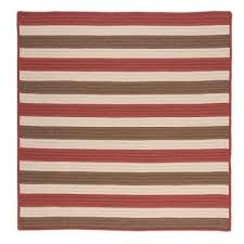 baxter terracotta 6 ft x 6 ft square indoor outdoor braided area rug