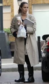 baggy lady leona lewis was pictured out in rainy london yesterday wearing an ill
