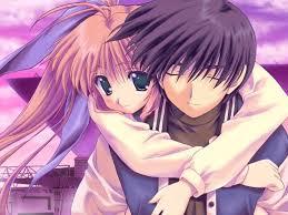 cute anime couples pencil sketch