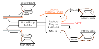 bose speakers wiring diagram bose wiring diagrams online 1997 seville rear speaker and amp replacement
