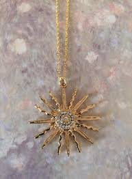 sun necklace sun necklace gold sun