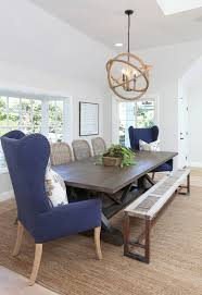 wingback dining chair dining room beach with blue dining