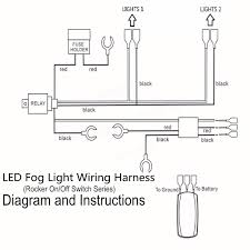 wiring diagram for led fog lights wiring image 12v 40a led fog light wiring harness laser rocker switch relay on wiring diagram for led