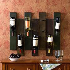 Diy Wall Mounted Riddling Wine Rack Wood Cabinet