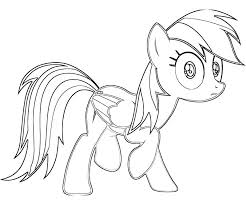Rainbow Dash Coloring Sheets Rainbow Dash Coloring Pages Free My