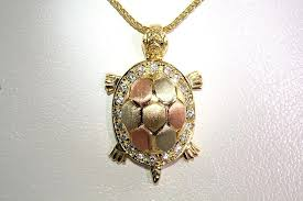 turtle pendant crystal necklace