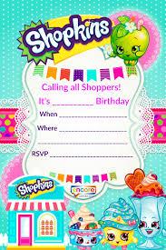 Shopkins Party Invite Download Free Encore Kids Parties