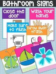 printable bathroom signs for kids. Simple Bathroom This Set Of Free Printable Bathroom Signs Is Perfect For The Classroom Or  Home I Know Quite A Few Kids Who Donu0027t Wash Their Hands Unless An Adult  With Signs For Kids Pinterest